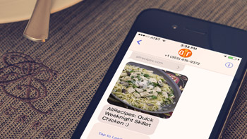 Text recipes to your phone using just your voice