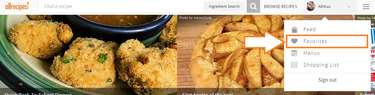 Submit your recipes allrecipes favoritespulldown forumfinder Gallery